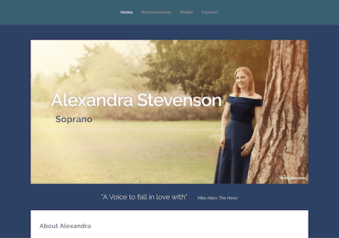 Alexandra Stevenson Soprano WordPress Website