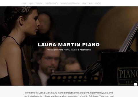 Laura Martin Piano WordPress Design